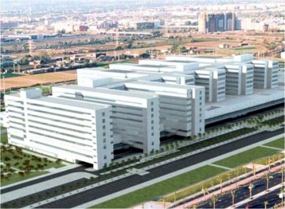 Finalizaci n torre a hospital la fe de valencia auge 3d - Hospital nueva fe valencia ...